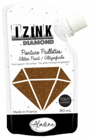 Izink Diamond Glitter Paint Brown