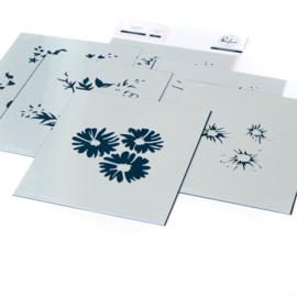 Stencils Floral Bunch Layering