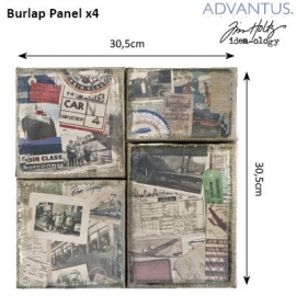 Burlap panel destinations
