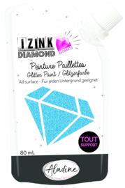 Izink Diamond Glitter Paint 24 Carats Blue