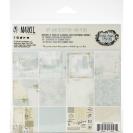 "Vintage Artistry Sky Collection Pack 6""X6"""