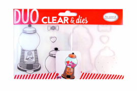 Clear Stamps & Dies Candy