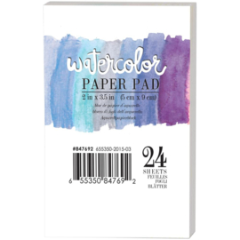 Watercolor Paper Pad 2x3.5 inch