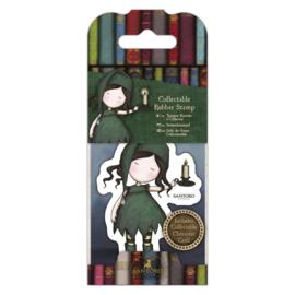 Gorjuss Mini Rubber Stamp - Nightlight
