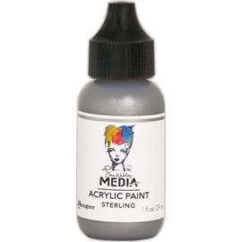 Dina Wakley Media Metallic Acrylic Paint Sterling