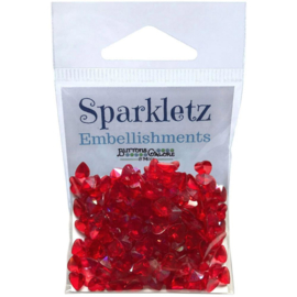 Embellishment Pack Red Hearts