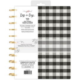 """Day-To-Day Journal 8.5""""X11"""" Black & White Checkerboard"""