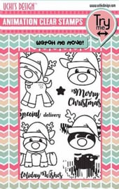 Animation Clear Stamps and Dies Christmas Fun