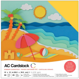 "Variety Cardstock Pack Summer 12""X12"""