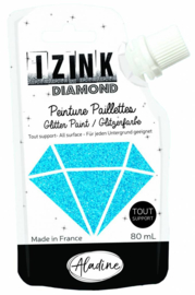 Izink Diamond Glitter Paint Carribean Blue