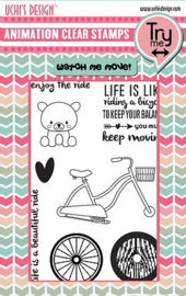 Animation Clear Stamps and Dies Enjoy the Ride