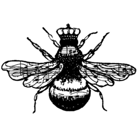 Cling Stamps Queen Bee