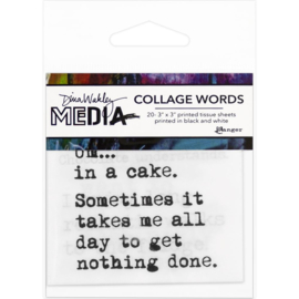 """Media Collage Word Pack # 3 3""""X3"""""""