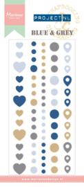PL4501 Blue & grey