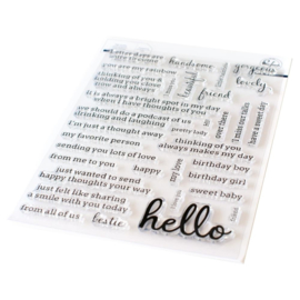 "Clear Stamp Set 6""X8"" Hello - Simply Sentiments"