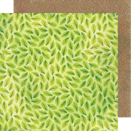 "Color Kaleidoscope Dbl-Sided Cardstock 12""X12"" Scattered Leaves"