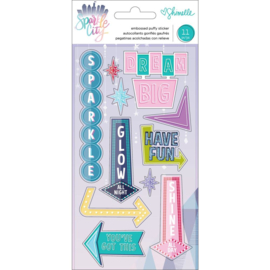 Sparkle City Embossed Puffy Stickers