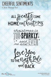 Cheerful Sentiments clear stamp