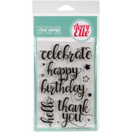 "Clear Stamp Set Big Greetings 4""X6"""