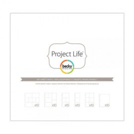 Project life photo pages x3pk