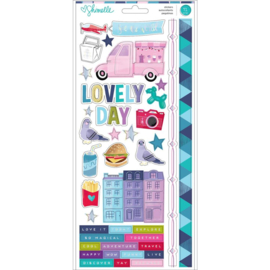 Sparkle City Cardstock Stickers
