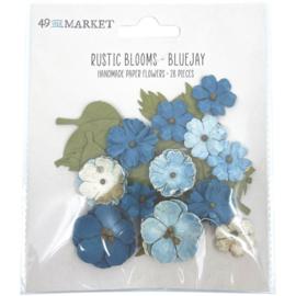 Rustic Blooms Paper Flowers Bluejay