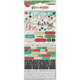 Warm Wishes Embossed Puffy Stickers