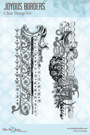 Joyous Borders clear stamp