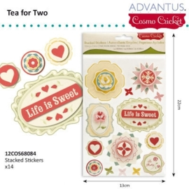 Tea for two 3D stickers x14