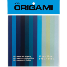 Origami Paper Shades Of Blue, 12 Colors