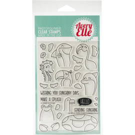 "Clear Stamp Set Peek-A-Boo Summer 4""X6"""