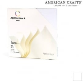 "Textured Cardstock Pack Solid White 12""12"""