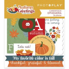 Autumn Greetings Ephemera Cardstock Die-Cuts