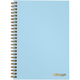 "Sky Blue Hardcover Notebook 6.9""X9.8"""