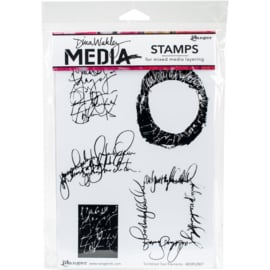 Cling Stamps Scribbled Text Elements