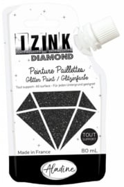 Izink Diamond Glitter Paint Black