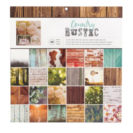 "CoPhoto Real Country Rustic Paper Pad 12""X12"""