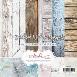 "Weathered Wood & Crystals Paper Pack 6""X6"""
