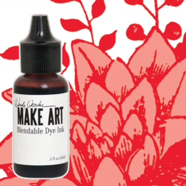Make Art Dye Ink Pad Reinkers Carnation Red