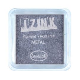 Inkpad Izink Pigment Metal Silver Blue Small