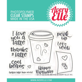 "Clear Stamp Set Cool Beans 4""X3"""