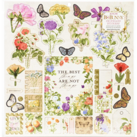 Botanical Journal Chipboard Stickers
