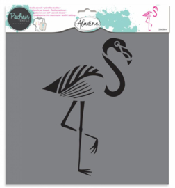 Textile Stencil Flamingo