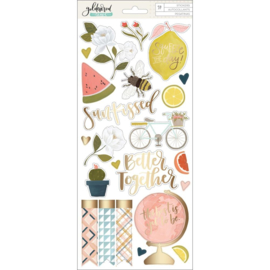 Goldenrod Cardstock Stickers
