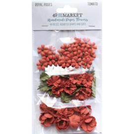 Royal Posies Paper Flowers Tomato