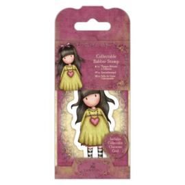 Gorjuss Mini Rubber Stamp - Heartfelt