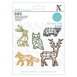 Dies Geometric Woodland Animals