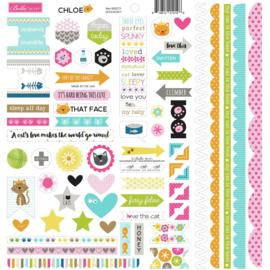 Chloe Doohickey Cardstock Stickers