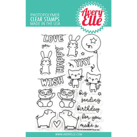 "Clear Stamp Set Party Pals 4""X6"""