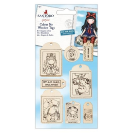 Gorjuss Colour Me Wooden Tags